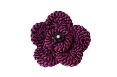 """Daisy"" flower Brooch, a stunning flower that can be worn on coats,tops, bags or hats ete Any colour would work from over 90 colour in the ribbon range. Flower Brooch, Daisy, Ribbon, Range, Coats, Colour, Kit, Flowers, Design"