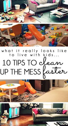 SO HELPFUL! Life with kids is messy, but that doesn't mean you can't have a pretty home. These 10 simple tips will allow you to take any room of the house from toy chaos to clean and calm in just 5 minutes.