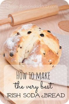Soda Bread Recipe It's so easy to make Irish Soda Bread! Make it a family tradition that they look forward to each year!It's so easy to make Irish Soda Bread! Make it a family tradition that they look forward to each year! Easy Irish Recipes, Irish Soda Bread Recipes, Moist Irish Soda Bread Recipe, Best Soda Bread Recipe, Lemon Recipes, Traditional Irish Soda Bread, Irish Bread, Irish Desserts, Bread Baking