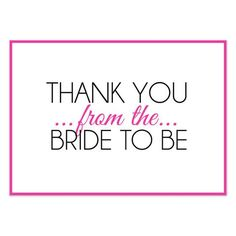 bridal shower thank you wording