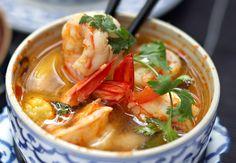 La soupe de crevettes à la citronnelle