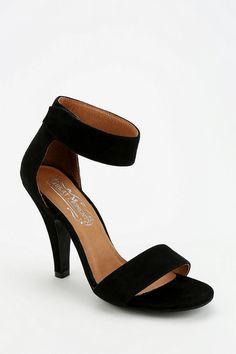 New Look Quota Black Mid Heeled Sandals | Heeled sandals, Sandals ...