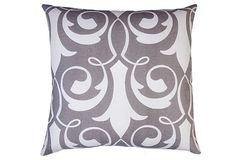 Xenos 20x20 Cotton Pillow, Gray on OneKingsLane.com