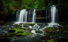 Photographing in Pennsylvania's beautiful Ricketts Glen State Park.
