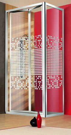 Cabina doccia luxor box 2 ante scorrevoli in vetro - Box doccia pentagonale ...