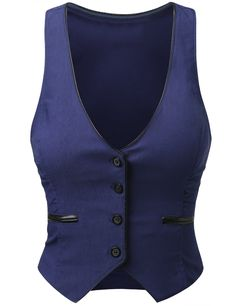 J.TOMSON Womens Button Down Vest at Amazon Women's Clothing store: Fashion Vests