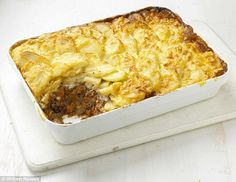 Shepherd's Pie Dauphinois ~ a twist on the classic with sliced potatoes au gratin instead of mashed | from 'Cook Up a Feast' by Mary Berry and Lucy Young | via Good to Know