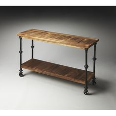 console table with industrial piping - Google Search