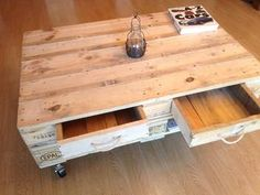BRAND NEW PALLET TABLE WITH DRAWS & CASTORS