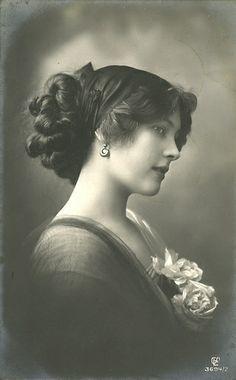 Edwardian Portrait Woman | terrifically beautiful, unidentified ... | Early 1900's Hair Insp...
