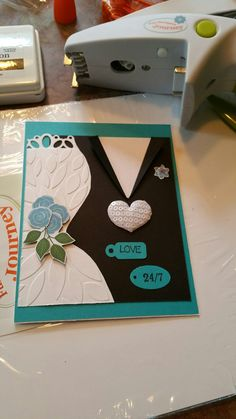 Another wedding card made with all FSJ products.