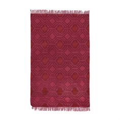 Sofia Very Berry Overdyed Flat Weave Area RugThis reversible rug is...