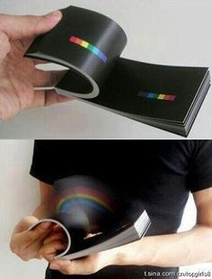 A rainbow book. Black field with minimal spectrum