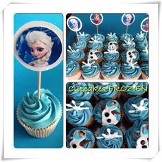 #frozen #disney #cupcakes