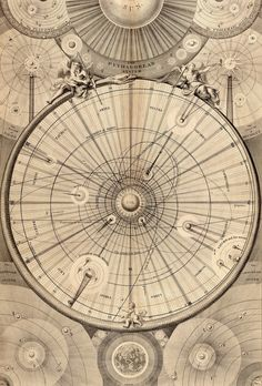 Thomas Wright of Durham. Celestial Map of the Universe. 1742.