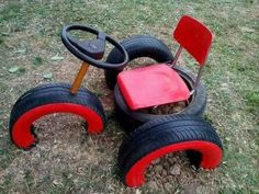 It& a cool way to make old tires play equipment # . This is a cool way to make old tires play equipment equipment Kids Outdoor Play, Outdoor Play Areas, Kids Play Area, Backyard For Kids, Diy For Kids, Tyre Ideas For Kids, Play Ideas, Garden Ideas For Toddlers, Backyard Play Areas