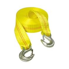 R Polyester Tow Strap Rope 2 Hooks 9000lb Towing Recovery HFS 4.5 Ton 2 Inch x 20 Ft