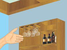 wikiHow to Make a Hanging Wine Glass Rack -- via wikiHow.com