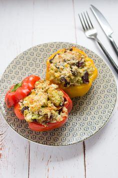 Poivrons farcis au quinoa et feta recette pour aimer le quinoa