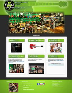 Shamrock Music Shop has a new website. The goal was to reflect the old store image, and charm, while helping to build the business. Wicked Design thanks Shamrock for the creative license afforded in developing this website for them. See the website: http://shamrockmusicshop.com