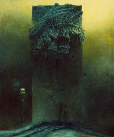 surreal art Beksinski at DuckDuckGo Arte Horror, Horror Art, Dark Fantasy Art, Dark Art, Mark Riddick, Macabre Art, Mystique, Creepy Art, Surreal Art