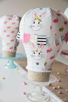 Stolní horkovzdušný balón šitý vzorek - drahoušku pro party nebo místnost dekor - to jsou rychlé šití!