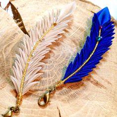 Tsumami zaiku. Kanzashi. Feather charm. Silk by LittleHighness
