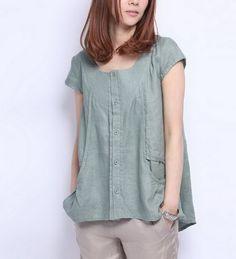 Casual Style Linen T Shirt-zeniche.com SKU ba0174
