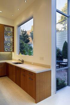 Edwardian Remodel: View window at Kitchen sink. www.gemmilldesign.com