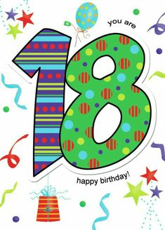 Happy 18th Birthday Quotes, Happy Birthday Clip Art, Happy Birthday Kids, Birthday Clips, Art Birthday, Happy Birthday Images, Birthday Messages, Special Birthday, Happy Birthday Wishes