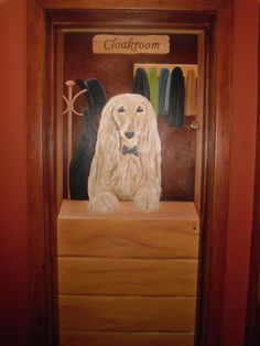 Afghan Hound Cloakroom Mural at The Cleveland Bay Pub Redcar - www.custommurals.co.uk