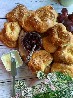 Delicious choreg for Easter or any time of year- make it heart shaped! Choreg Recipe, Sour Cherry Jam, Dough Cutter, Armenian Recipes, Happy Easter Everyone, Sifted Flour, Egg Wash, Salted Butter, Heart Shapes