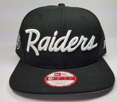 ** Doesn't say Los Angeles on like the NWA ones but still nice **  New Era Los Angeles Raiders 9Fifty Vintage Script NWA Eazy Logo Snapback Hat Cap | eBay