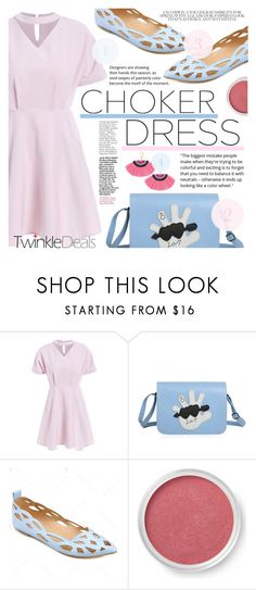 """""""Choker Dress"""" by tasnime-ben ❤ liked on Polyvore featuring Bare Escentuals"""