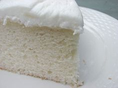 White Almond Wedding Cake -  supposedly *the best* white cake