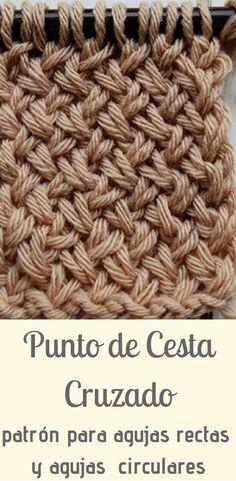 Cross-stitch knitted in two needles / sticks Knitting Stitches, Knitting Yarn, Baby Knitting, Knitting Patterns, Crochet Patterns, Free Crochet, Knit Crochet, Crochet Hats, Knitting Projects