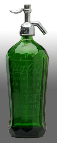 gorgeous green seltzer bottle