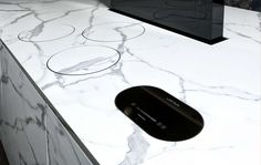 Induction cooking integrated on the worktop