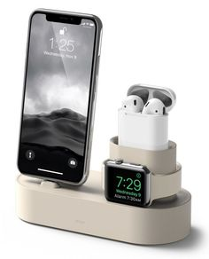 Elago Silicone 3-In-1 Charging Hub for iPhone, Apple Watch and AirPods #cool #gadgets #tech #airpods #apple #charging #iphone #iphoneairpods,