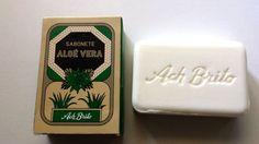 Ach Brito Soap - Aloe Vera Wild Mint - 90g=3.2 oz 100% Vegetable Toilet Soap #AchBrito