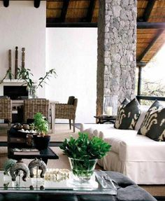 South African Interior Designed by Yvonne O' Brien, Londolozi Game Reserve