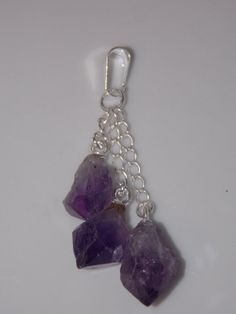 Triple Point Pendant with Amethyst Crystal by CallaBeadSupplies, $16.75