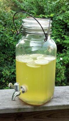 Vintage Style Glass Mason Jar Drink Dispenser Beverage Dispenser Vintage Wedding Decor Lemonade Pitcher. $40.00, via Etsy.