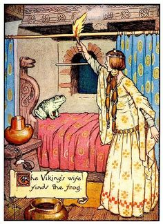 """Gordon Robinson, 'Hans Andersen's Fairy Tales' 1917 """"The Viking's Wife Finds the Frog"""""""