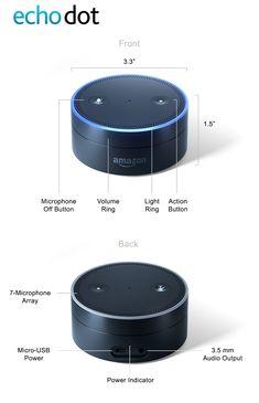 Echo Dot Generation) - Smart speaker with Alexa - Black Amazon Echo, Amazon Dot, Alexa Dot, Alexa Echo, Alexa Commands, Amazon Alexa Skills, Alexa Device, Smart Home Automation, Tablet Phone