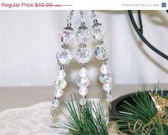 CIJ SALE White Christmas Icicle Ornaments  bead by CJKingOriginals, $8.50