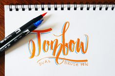 FozzyBook | brush lettering tools