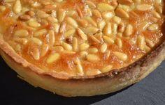 TARTE AUX PIGNONS (fond de tarte aux amandes, crème aux amandes et pignons…