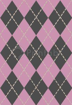 """Plaid Pink"" fabric from Prinfab®. Credit: Rekindledlove . URL: https://prinfab.com/en/product/view/UQU4tI. Description: This traditional plaid is 'Pretty In Pink'. Keywords: Tartan, pink, cream, grey, geometric, lines, diamond, diamonds, traditional,"