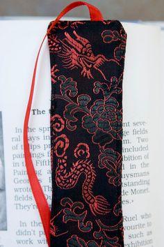 Oriental Dragon Bookmark. $7.00, via Etsy.